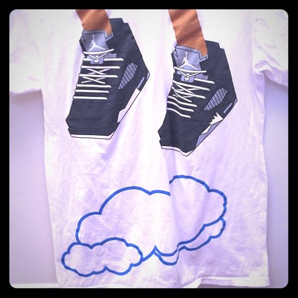 "AirJordan Tshirt, Nike, ""Jumping Above The Clouds"""